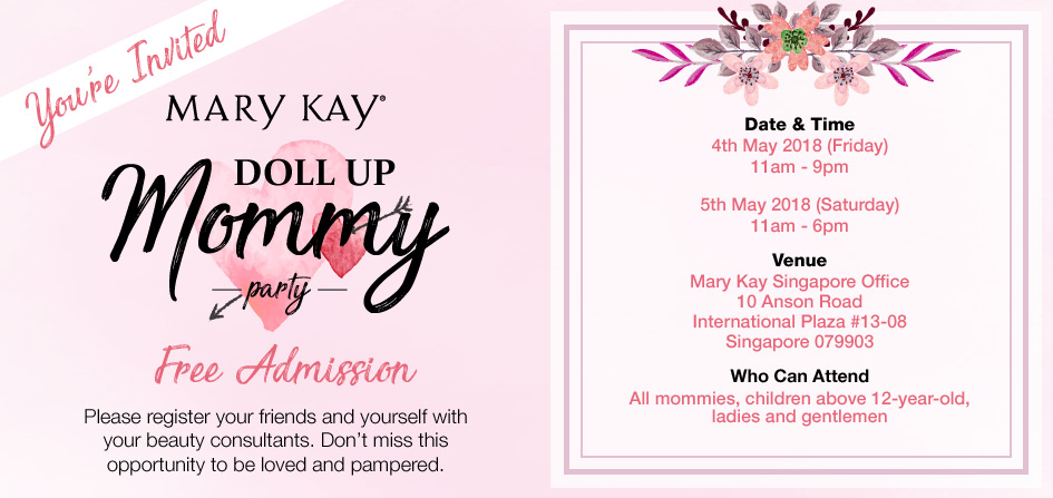 Mary Kay Singapore Doll Up Mommy Party